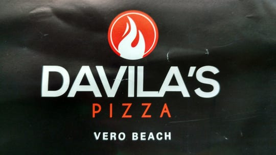 The flame on Davila's logo indicates that its pizza is baked in a brick oven.