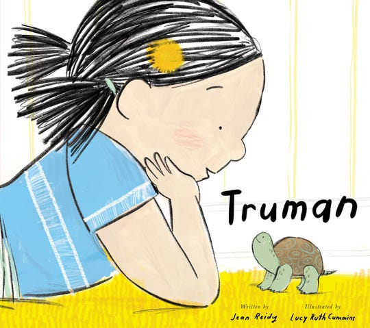 """Truman"" by Jean Reidy, illustrated by Lucy Ruth Cummins"