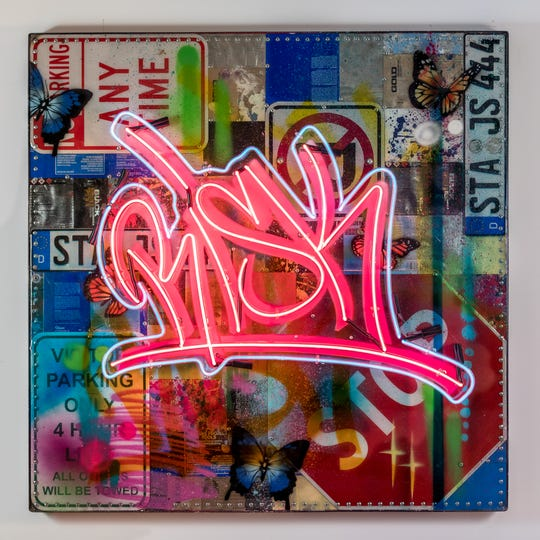 """A live hip-hop performance will kick off at 7 p.m., Aug. 17 at the California Museum of Art Thousand Oaksat The Oaks mall. The performance or hip-hop cypher accompanies the museum's current exhibition by graffiti artistKelly """"RISK"""" Graval."""