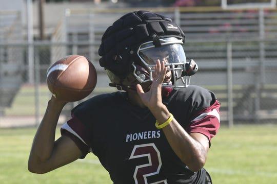 The Mt. Whitney High School football practices on Aug. 8, 2019 in Visalia.