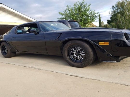 A black 1980 T-top Chevy Camaro with two doors and custom rims was reported stolen in Earlimart on Aug. 8, 2019.