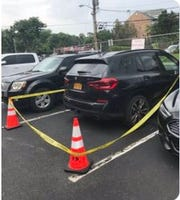 Police say they found a cache of weapons in this BMW. Tuckahoe police arrested Matthew Bonanno on Monday, Aug. 12, 2019. The car was seized and is seen stored in the Tuckahoe police station parking lot on Aug. 14, 2019.