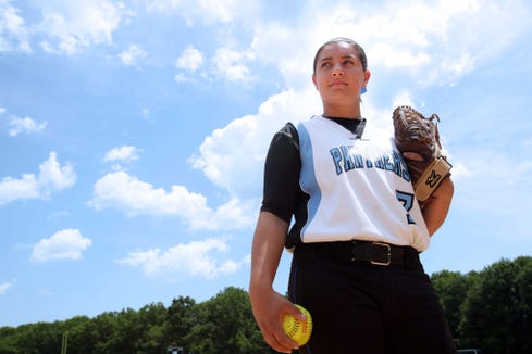 Rye Neck High School's Jess Calvini is the Westchester/Putnam Softball Player of the Year. Calvini is photographed July 3, 2012 at the school field in Mamaroneck.