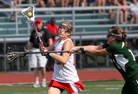 Fox Lane's Lindsay Toppe during the Section 1 Class B girls lacrosse championship game against Yorktown in 2011.