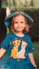 Caitlin Shuda in kindergarten