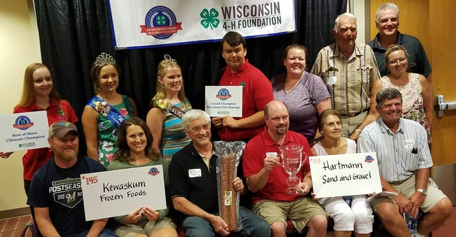The 2019 Best of Show Award to meat processor Louie's Finer Meats of Cumberland.  Louie's earned the honor for its Old World Sausage (a new category this year).  It sold to a consortium of Hartmann Sand and Gravel and Kewaskum Meats for $2,500.