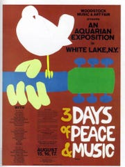 Poster of the 1969 Woodstock music festival