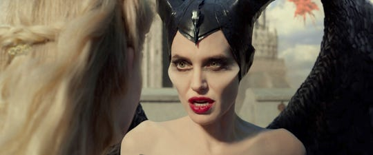 """Angelina Jolie reprises her role as the title winged fairy - and one-time villainess - in """"Maleficent: Mistress of Evil."""""""