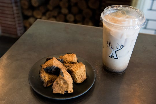 Chaga mushrooms are turned into powder and used as an ingredient in Alfred Coffee's Chaga-ccino.