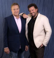 """John Goodman, left, plays the head of a multimillion-dollar Christian ministry and Danny McBride plays his son in HBO's """"The Righteous Gemstones."""""""