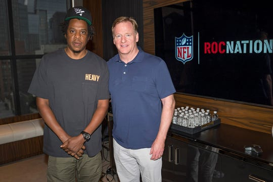 Jay-Z and Roger Goodell discussed the NFL's partnership with Roc Nation.