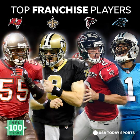 The best players from each team in the NFL's NFC South division.
