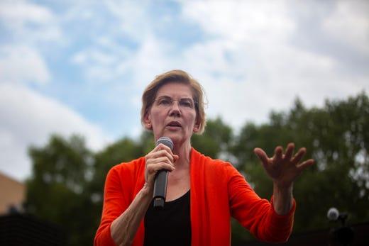 Senator Elizabeth Warren, D-Ma, announced she was running for president on Feb. 9, 2019.