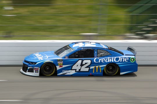 Kyle Larson drives the No. 42 Chevrolet.