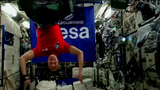ISS astronaut Luca Parmitano performs the first-ever electronic music set in space, with revellers dancing on a cruise boat in the Mediterranean.