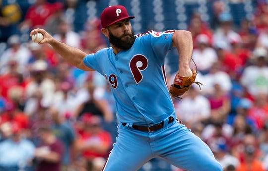 Philadelphia Phillies pitcher Jake Arrieta has been trying to play through pain.