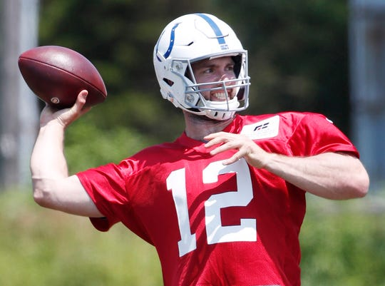 Andrew Luck has been limited in training camp workouts.