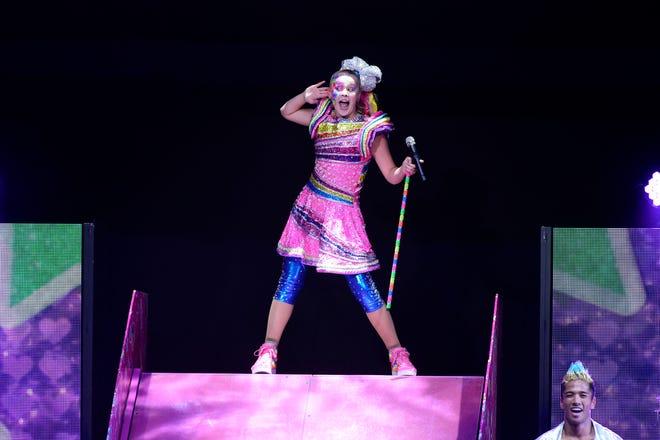 JoJo Siwa performs at Honda Center on August 13, 2019 in Anaheim, California.