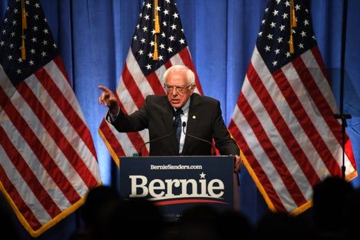 Senator Bernie Sanders, I-VT, announced he was running for president on Feb. 19, 2019.