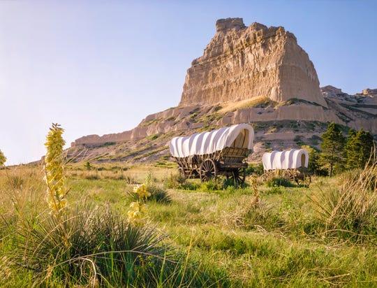 Covered wagons in Nebraska