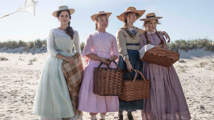 "Emma Watson, Florence Pugh, Saoirse Ronan, Eliza Scanlen star as the March sisters in ""Little Women."""