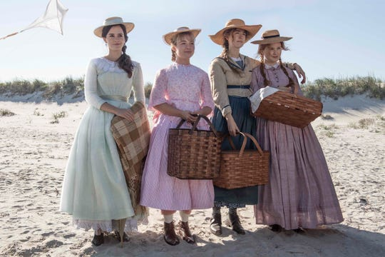 "Emma Watson, Florence Pugh, Saoirse Ronan and Eliza Scanlen star as the March sisters in ""Little Women."""