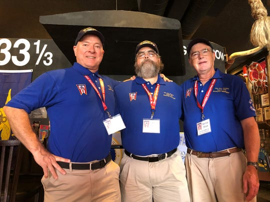 From left to right: Larry Sloan, John Moore and Bernie Strub, organizers of the first USS Ohio reunion, at the Horse & Cow Pub and Grill Thursday in downtown Bremerton.