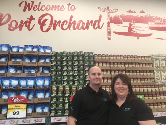Greg Bovan and Deeann Haberly-Bovan are the owner/operators of the new Grocery Outlet in Port Orchard. The store opened Aug. 15, 2019 in the Towne Square Mall.