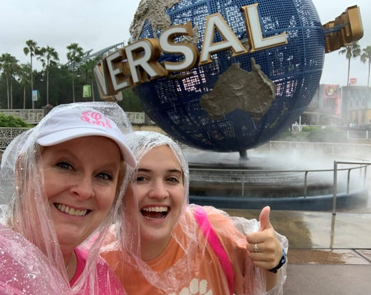 Suzy Fleming Leonard and her cousin Eliza Shaw didn't get around to taking a bioluminescence tour, but they did explore the Wizarding World of Harry Potter this summer.