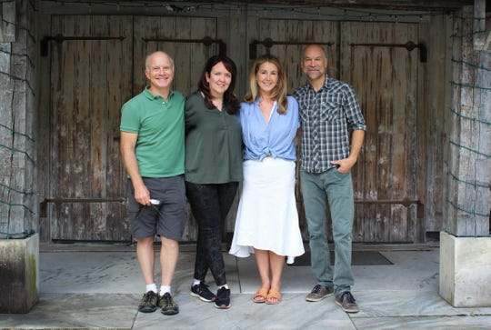 "From left to right, actor Dan Butler, director Jackson Gay, actress Peri Gilpin and actor Greg Stuhr present ""Slow Food"" through Aug. 31 in Dorset."