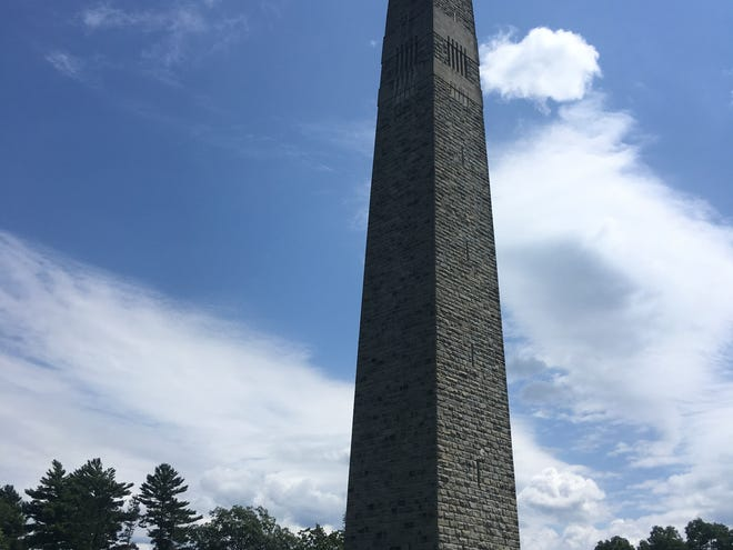 The Bennington Battle Monument memorializing the battle that never was in the Green Mountain state, in Bennington, VT, August 15, 2019.