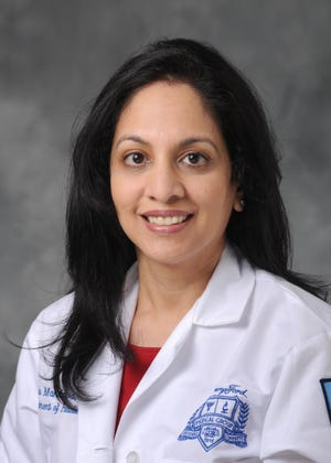 Sabala Mandava, M.D., is a board-certified radiologist and division head of breast imaging in the Department of Radiology at Henry Ford Health System