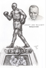 A rendering shows proposed statue of Jersey Joe Walcott.