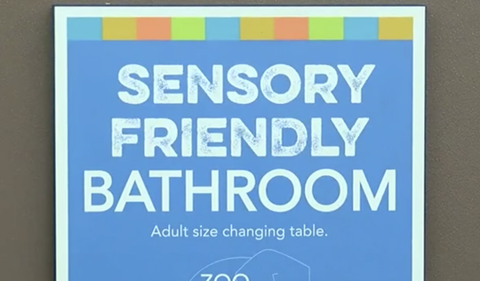 The Cincinnati Zoo has added adult changing tables to their 'Sensory Friendly' bathroom locations.