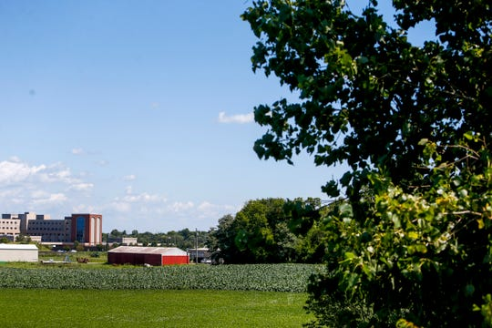 Farmland and open fields off Dunlop Lane are being considered for a conference center and office park.