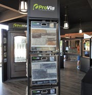 ProVia manufactured stone and doors are some of the products on display in the showroom of the new J&R Door site on U.S. 36.