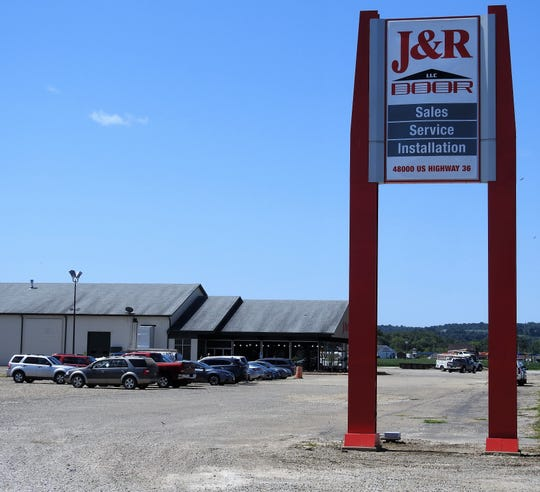 J&R Door has a new eight acre property and 32,000 square-foot building on U.S. 36, site of the former Finton Equipment.
