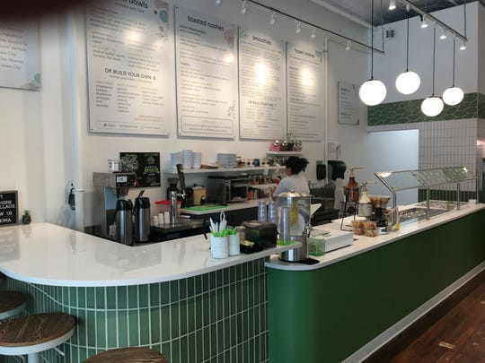 Nosh Cafe & Eatery features quick-casual food, smoothies, bowls, shakes, grab-and-go items and frozen yogurt.