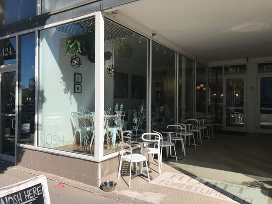 Nosh Cafe & Eatery is located at 424 E. Locust Street.