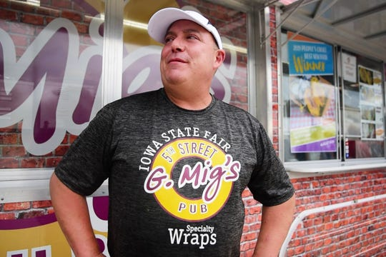 George Migliero, owner of G Migs Pub and Stand at the fair, created 'Georgie's Roast with the Most Wrap', winning the Fair's Best New Food of 2019.