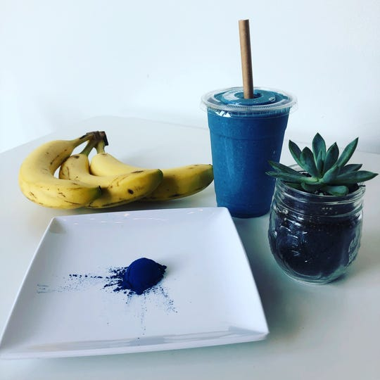 Healthy 'boosts' like blue spirulina powder can be added to smoothies, frozen treats and bowls for an upcharge at Nosh Cafe & Eatery.