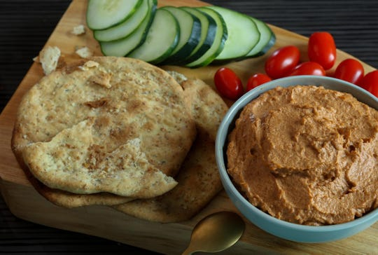 "Muhammara means ""reddened"" in Lebanese Arabic, and you can easily see why."