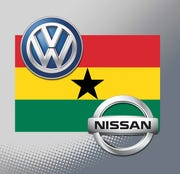 Ghana will offer tax breaks of up to 10 years to automakers that set up local manufacturing plants, as the government seeks to attract international companies such as Volkswagen AG and Nissan Motor Co.