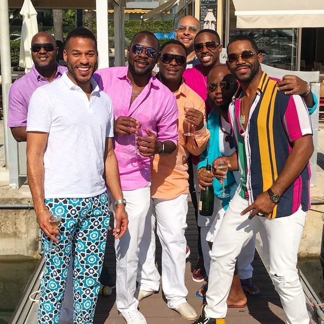 """Detroiter Kairi Horsely, front left in white shirt, and friends on yacht trip featured on TV show """"Below Deck."""""""