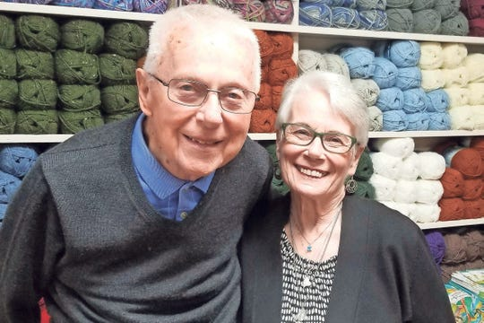 Phil and Ann Hughes opened their Ann's By Design shop in 2015. It offers 65 different types of yarns.