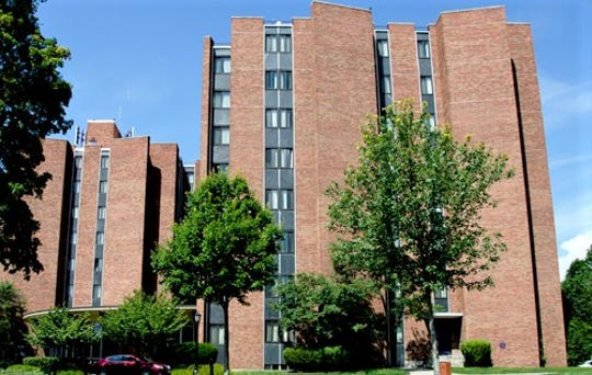 Elmira College has temporarily closed its Twin Towers residence hall due to code issues involving elevators.