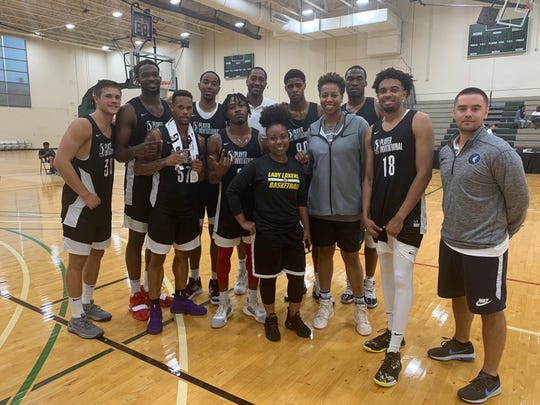 Alex Stein (far left) was the only Division II product invited to the G League Invitational last weekend.