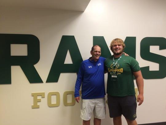 Weston Wallace with CSU coach Mike Bobo.