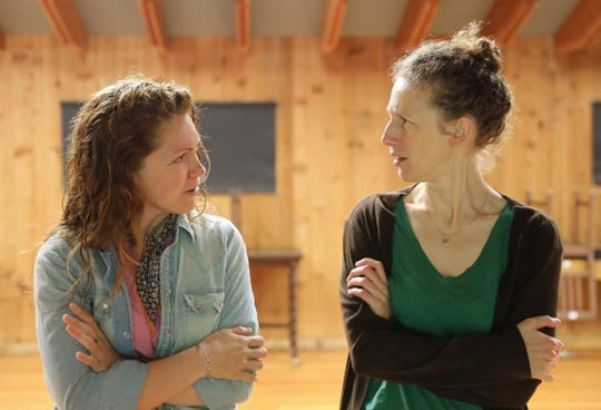 """Cassandra Bissell, right, is Henrietta Swan Leavitt and Ashley Lanyon is Henrietta's sister Margaret in the Peninsula Players Theatre production of """"Silent Sky,"""" which opens Aug. 21 in Fish Creek."""