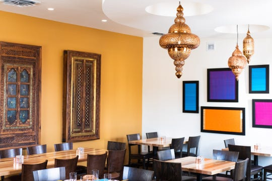 Taste of India's new interior, as of August 2019. Photograph by Abby Van Ess Photography.